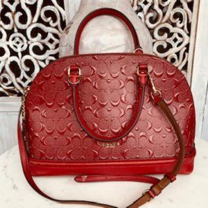 Coach Cherry Red Sierra Dome Handbag